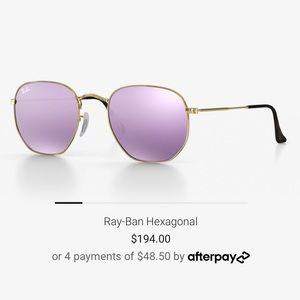 Ray-Ban   Customized Hexagonal in Lilac